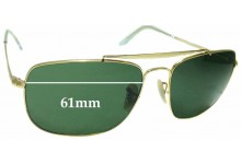 Sunglass Fix Sunglass Replacement Lenses for Ray Ban RB3560 The Colonel - 61mm Wide