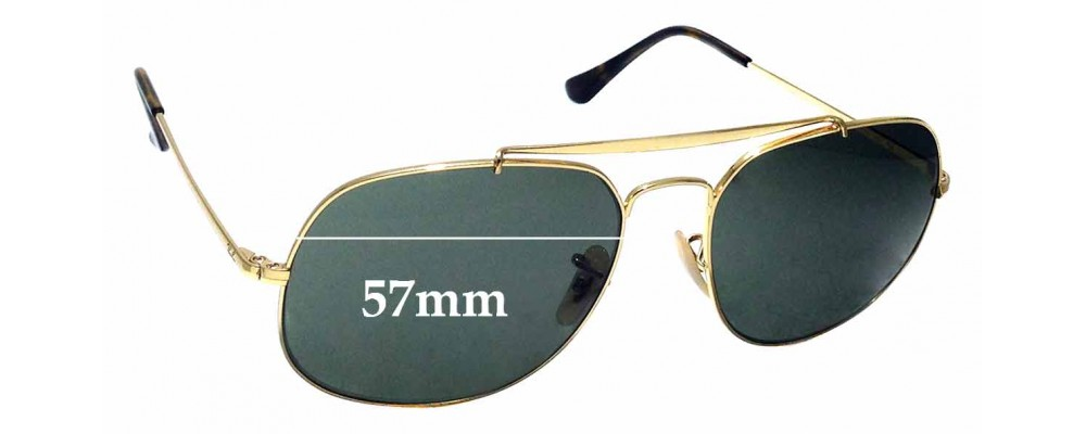 Sunglass Fix Sunglass Replacement Lenses for Ray Ban RB3561 - 57mm Wide