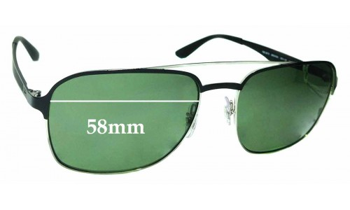 Sunglass Fix Sunglass Replacement Lenses for Ray Ban RB3570 - 58mm wide