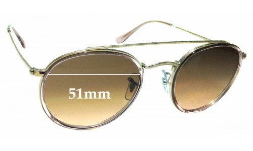 Sunglass Fix Sunglass Replacement Lenses for Ray Ban RB3647-N - 51mm Wide