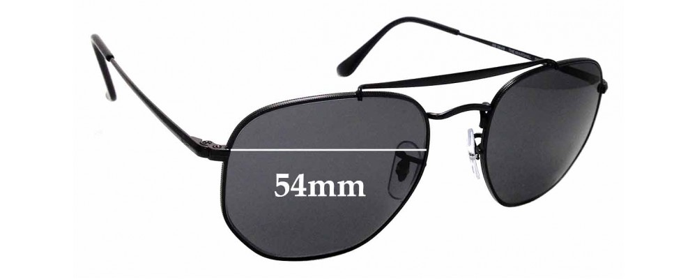 df3893308ea50 Sunglass Fix Sunglass Replacement Lenses for Ray Ban RB3648 The Marshal -  54mm wide