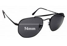 Sunglass Fix Sunglass Replacement Lenses for Ray Ban RB3648 The Marshal - 54mm Wide
