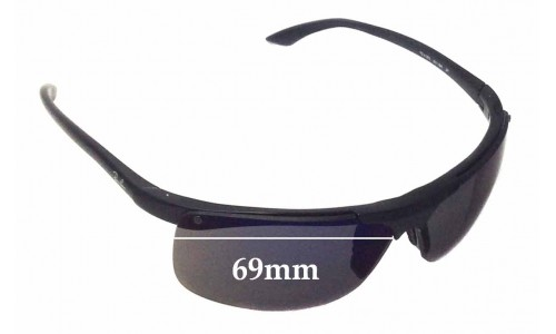 Sunglass Fix Sunglass Replacement Lenses for Ray Ban RB4085 - 69mm Wide