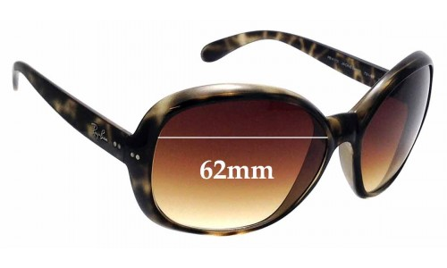 Sunglass Fix Sunglass Replacement Lenses for Ray Ban RB4113 Jackie Ohh III - 62mm Wide
