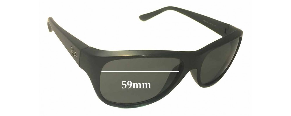 Sunglass Fix Sunglass Replacement Lenses for Ray Ban RB4138 - 59mm Wide