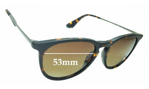 Sunglass Fix Sunglass Replacement Lenses for Ray Ban RB4171 Erika - 53mm Wide **Please measure as there are several models**
