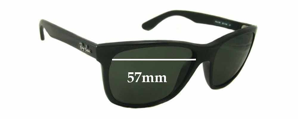 Sunglass Fix Sunglass Replacement Lenses for Ray Ban RB4181-F - 57mm Wide