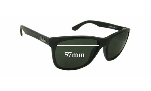 Sunglass Fix Sunglass Replacement Lenses for Ray Ban RB4181-F - 57mm wide lenses