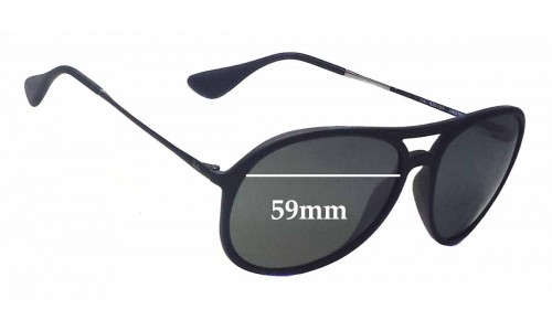 Sunglass Fix Sunglass Replacement Lenses for Ray Ban RB4201 Alex - 59mm wide