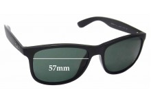 Sunglass Fix Sunglass Replacement Lenses for Ray Ban RB4202-F Andy - 57mm Wide