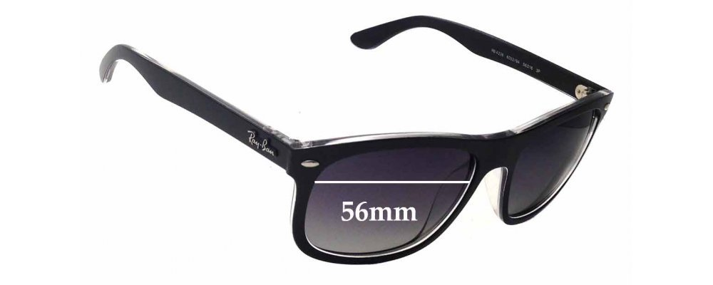 Sunglass Fix Sunglass Replacement Lenses for Ray Ban RB4226 - 56mm Wide