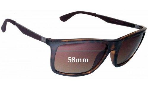 Sunglass Fix Sunglass Replacement Lenses for Ray Ban RB4228 - 58mm Wide
