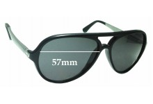 Sunglass Fix Sunglass Replacement Lenses for Ray Ban RB4235 Havana - 57mm Wide