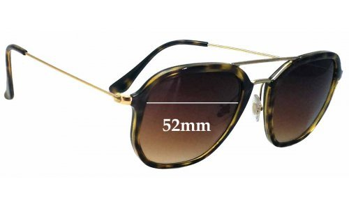 Sunglass Fix Sunglass Replacement Lenses for Ray Ban RB4273 - 52mm wide