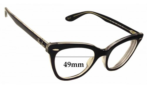 Sunglass Fix Sunglass Replacement Lenses for Ray Ban RB5226 - 49mm wide