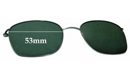 Sunglass Fix Sunglass Replacement Lenses for Ray Ban RB6042-2502 Clip On - 53mm Wide