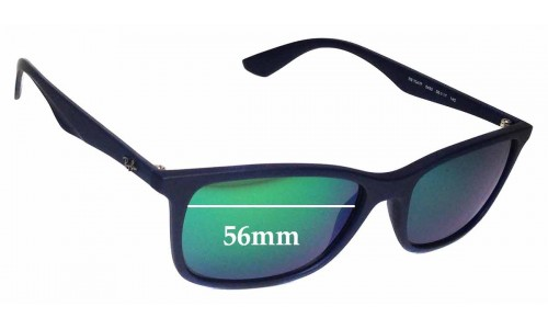 Sunglass Fix Sunglass Replacement Lenses for Ray Ban RB7047-F - 56mm Wide