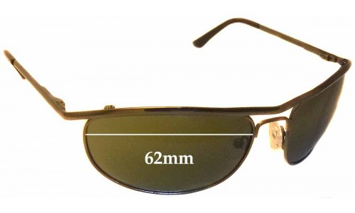 Sunglass Fix Sunglass Replacement Lenses for Ray Ban RB8012 - 62mm wide