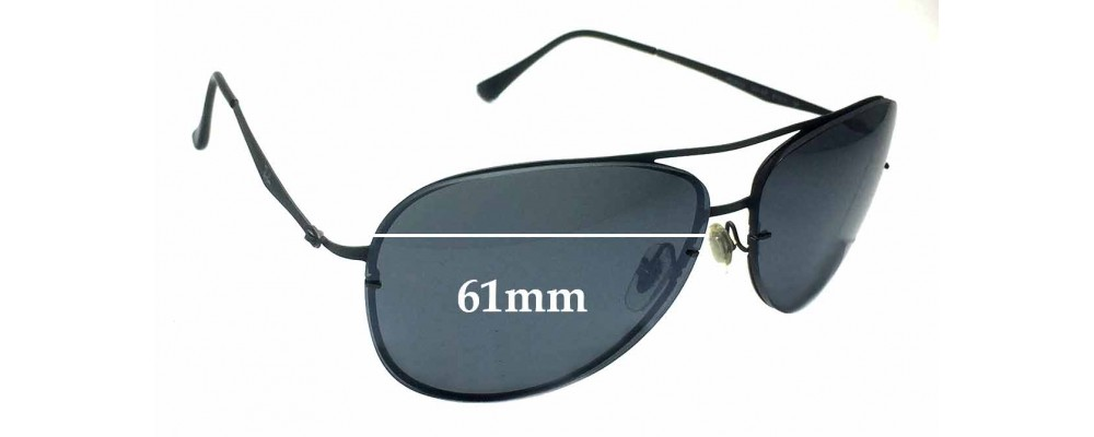 Sunglass Fix Sunglass Replacement Lenses for Ray Ban Aviator RB8052 LightRay - 61mm Wide