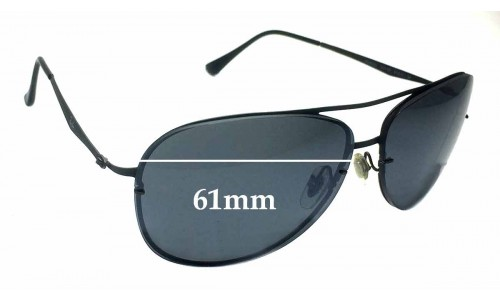 Sunglass Fix Sunglass Replacement Lenses for Ray Ban Aviators RB8052 LightRay - 61mm across