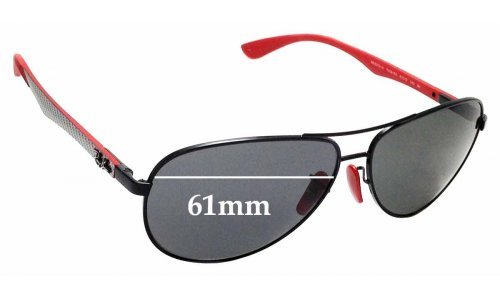 Sunglass Fix Sunglass Replacement Lenses for Ray Ban RB8313-M Tech - 61mm Wide