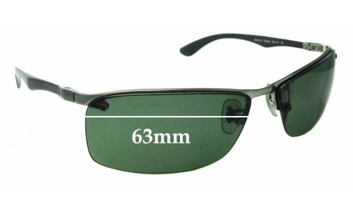 Sunglass Fix Sunglass Replacement Lenses for Ray Ban Tech RB8315 - 63mm Wide - Professional Install Recommended