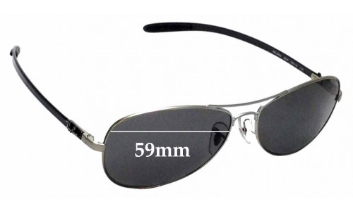 Sunglass Fix Sunglass Replacement Lenses for Ray Ban RB8403 - 59mm wide