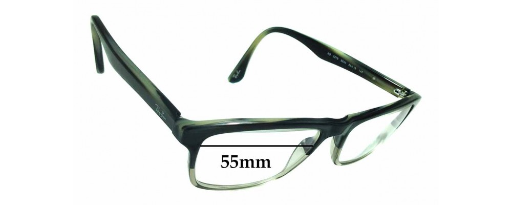Sunglass Fix Sunglass Replacement Lenses for Ray Ban RB5279 - 55mm Wide