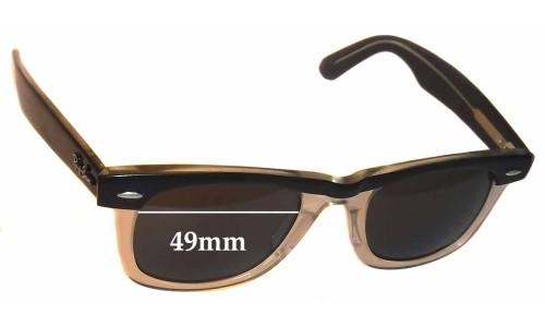 Sunglass Fix Sunglass Replacement Lenses for Ray Ban Wayfarer II 49mm Wide