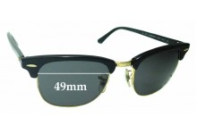 Sunglass Fix Sunglass Replacement Lenses for Ray Ban Clubmaster RB3016 WO365 - 49mm Wide