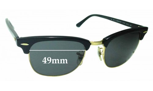 Sunglass Fix Sunglass Replacement Lenses for Ray Ban WO365 RB3016 Clubmaster - 49mm Wide