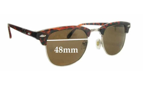 Sunglass Fix Sunglass Replacement Lenses for Ray Ban Clubmaster RB3016 - 48mm Wide