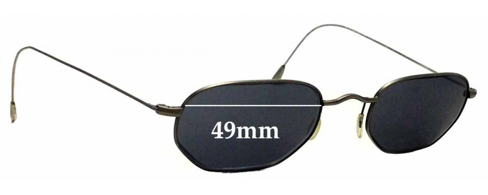 Sunglass Fix Sunglass Replacement Lenses for Red Rose RR89 - 49mm Wide