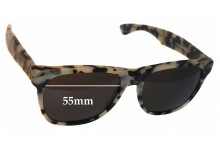 Sunglass Fix Sunglass Replacement Lenses for Retro Super Future Classic Puma 274 - 55mm Wide