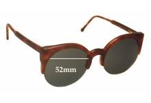 Sunglass Fix Sunglass Replacement Lenses for Retro Super Future Lucia 284 - 52mm Wide