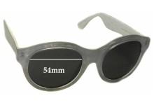 Sunglass Fix Sunglass Replacement Lenses for Retro Super Future Mona Pool - 54mm Wide