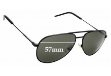 Sunglass Fix Sunglass Replacement Lenses for Saint Laurent Classic II - 57mm Wide