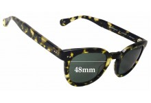 Sunglass Fix Sunglass Replacement Lenses for Saturdays Adrian - 48mm Wide