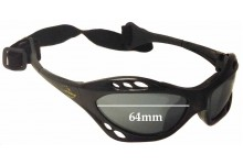 Sunglass Fix Sunglass Replacement Lenses for Seabreeze Kite Surfer - 64mm Wide