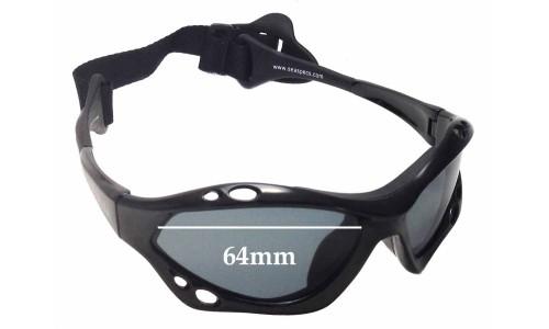 Sunglass Fix Sunglass Replacement Lenses for SeaSpecs Classic Jet Specs - 64mm Wide