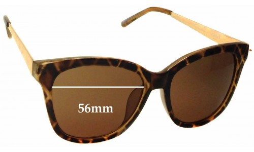 Sunglass Fix Sunglass Replacement Lenses for Seed Heritage Melanie - 56mm Wide