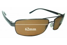 Sunglass Fix Sunglass Replacement Lenses for Serengeti San Remo - 62mm Wide