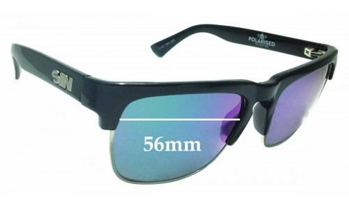 Sunglass Fix Sunglass Replacement Lenses for Sin Amped - 56mm Wide