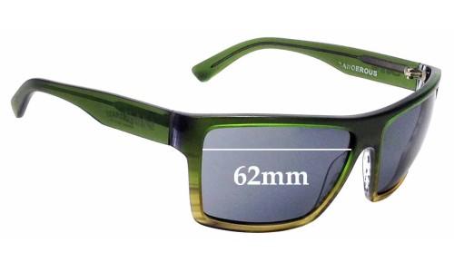Sunglass Fix Sunglass Replacement Lenses for Sin Dangerous - 62mm Wide