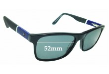 Sunglass Fix Sunglass Replacement Lenses for Tommy Hilfiger / Specsavers TH 73 - 52mm Wide