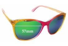 Sunglass Fix Sunglass Replacement Lenses for Steve Madden S5449- 57mm Wide