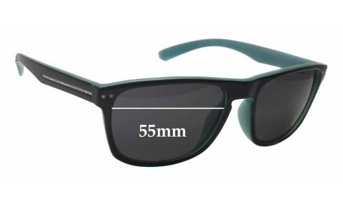 Sunglass Fix Sunglass Replacement Lenses for Sundog Eyewear Azure - 55mm Wide