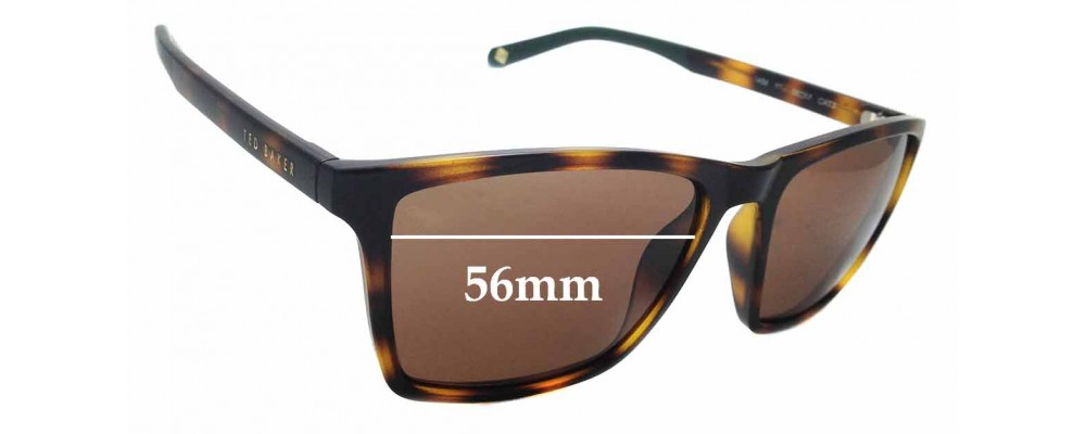 bb409ebe5e3 Sunglass Fix Sunglass Replacement Lenses for Ted Baker TB1456 Wade - 56mm  wide