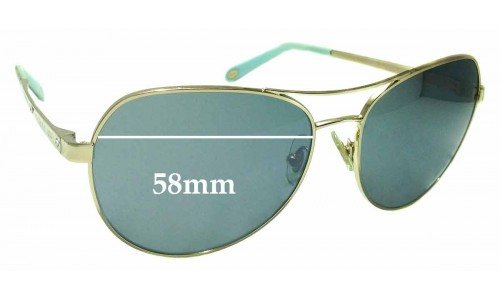 Sunglass Fix Sunglass Replacement Lenses for Tiffany & Co TF 3051-B - 58mm Wide
