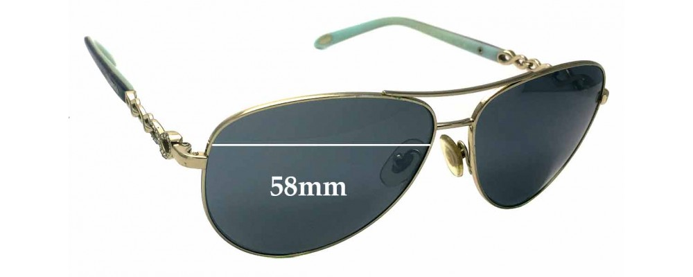 410a3cb5b29 Sunglass Fix Sunglass Replacement Lenses for Tiffany   Co TF 3049-B - 58mm  wide